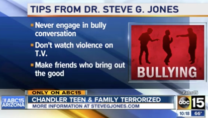 Dr. Steve G. Jones Helps Teen Bullying Victim