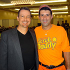 Steve G. Jones with 'Scrub Daddy' Aaron Krause at Shark Tank