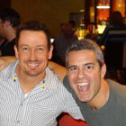 Steve G. Jones with Bravos Andy Cohen