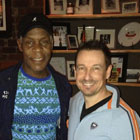 Steve G. Jones with Danny Glover