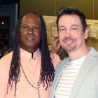 Steve G. Jones with Michael Bernard Beckwith star of The Secret