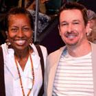 Steve G. Jones and Rickie Byars Beckwith at Agape International Spiritual Center