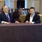 Steve G. Jones with Bert Martinez of Money for Lunch