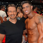 Steve G. Jones with Colin Wayne, fitness athlete and model
