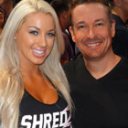 Steve G. Jones with Laci Kay Somers, fitness model