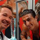 Steve G. Jones with Sadik Hadzovic, IFBB Professional Bodybuilder