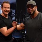 Steve G. Jones with Zack King Khan, IFBB Professional Bodybuilder
