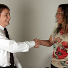 Steve G. Jones with Client