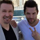 Steve G. Jones with Justin Spencer - The world's fastest drummer who founded the Vegas show Recycled Percussion
