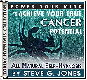 Hypnosis CD or MP3 to Power Your Mind to Achieve Your True Starsign Cancer Potential
