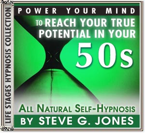 Power Your Mind to Reach Your True Potential - Hypnosis for people turning 50 or in their 50s - CD or MP3 available!