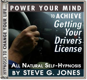 CD or MP3 to Power Your Mind  to Achieve Getting Your Driver's License