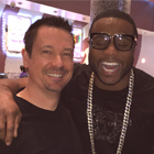Steve G. Jones with professional boxer Jean-Thenistor Pascal