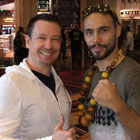 Steve G. Jones with professional boxer Keith Thurman