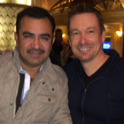 Steve G. Jones with Tony Melendez of Univision