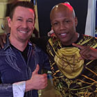 Steve G. Jones with professional boxer Zabdiel 'Zab' Judah