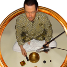 Steve G. Jones recording with Tibetan Singing Bowls that were hand hammered by a Tibetan Buddhist in Dharamsala