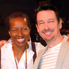 Steve G. Jones with Rickie Byars Beckwith at Agape International Spiritual Center