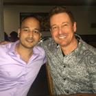 Steve G. Jones with Ajit Nawalkha, CEO of Mindvalley Media