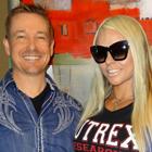 Steve G. Jones with Larissa Reis, Brazilian International Federation of BodyBuilders professional figure competitor