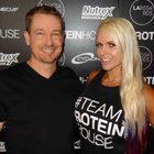 Steve G. Jones with Larissa Reis, Brazilian International Federation of BodyBuilders professional figure competitor