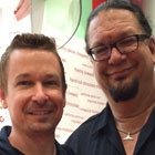 Steve G. Jones with Penn Jillette