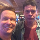 Steve G. Jones with Comedian Rich Hall