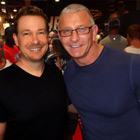 Steve G. Jones with Chef Robert Irvine of the Food Network