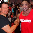 Steve G. Jones with Dennis James, IFBB Professional Bodybuilder