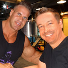 Steve G. Jones with Jay Cutler, IFBB Professional Bodybuilder