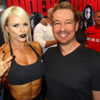 Steve G. Jones with Larissa Reis, bodybuilder and fitness model
