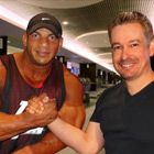 Steve G. Jones with Mamdouh Big Ramy Elssbiay, IFBB Pro