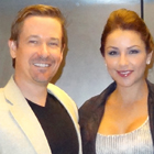 Steve G. Jones with Nancy Montero, Miss Costa Rica Contestant 2009 and 2010