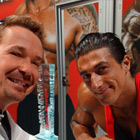 Steve G. Jones with Sadik Hadzovic, IFBB Professional Bodybuilder