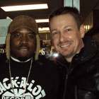 Steve G. Jones with Grammy award winning Big Boi from Outcast, on set filiming his new music video