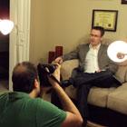 Steve G. Jones interviewing with the Savannah Morning News
