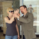 Steve G. Jones hypnotizing people on the streets of Savannah for his hypnosis techniques DVD
